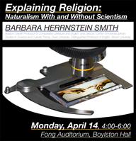 Explaining Religion event poster