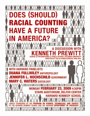 Kenneth Prewitt event poster