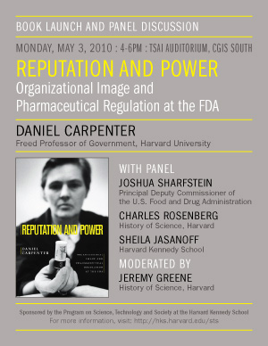 Daniel Carpenter book launch event poster