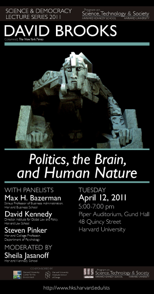 David Brooks event poster