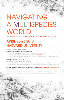 Navigating a Multispecies World event poster