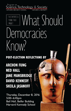 What Should Democracies Know? event poster